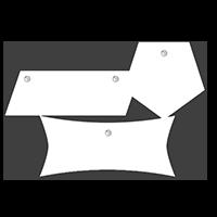 Hartschaumplatten Konturschnitt + Lochbohrung