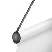 Schaufenster Banner Alurohr mit Kordel (schwarz)