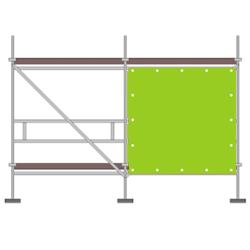 Gerüstbanner Online Gestaltung 200 x 205 cm (Frontfeld)