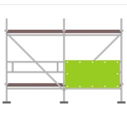 Gerüstbanner Online Gestaltung 250 x 100 cm (1/2 Front)