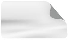 Selbstklebefolie Polymere Folie mit grauer Rückseite (glänzend)