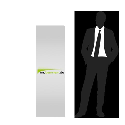 Displayaufsteller mit Produktpräsenter 50 x 156 cm (gefaltet 38,7 x 50 cm)