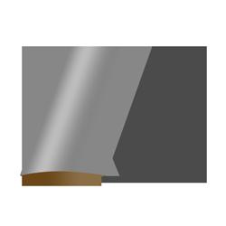Displayaufsteller Ellipse Standard 1x mittig geklappt