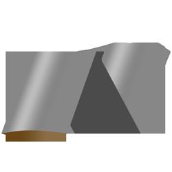 Displayaufsteller Ellipse Standard 2 x geklappt