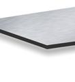 Aluminiumverbundplatten 3mm Aluverbundplatte (silber gebürstet)