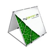 Doppelseitiger Alu-Kundenstopper 100 x 100 cm