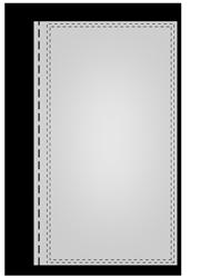 Werbefahnen im Digitaldruck Flaggenleine links (80cm) mit Schlaufe (6cm flach)