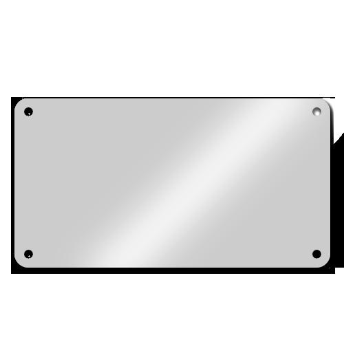 Acrylglasplatten Gerundete Ecken + 4 Eckbohrungen