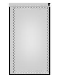 Werbefahnen im Siebdruck Ø 3 cm Hohlsaum (Mast mit Ausleger)
