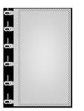 Werbefahnen im Siebdruck Kunststoffkarabiner links