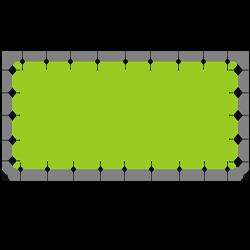 Bannerrahmen System mit Druck Rahmensystem 300 x 200 cm<br>passend für 285 x 185 cm