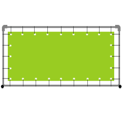 Bannerrahmen System mit Druck Rahmensystem 300 x 200 cm