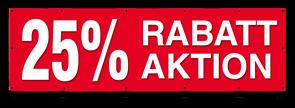 Aktion Banner 25 Prozent