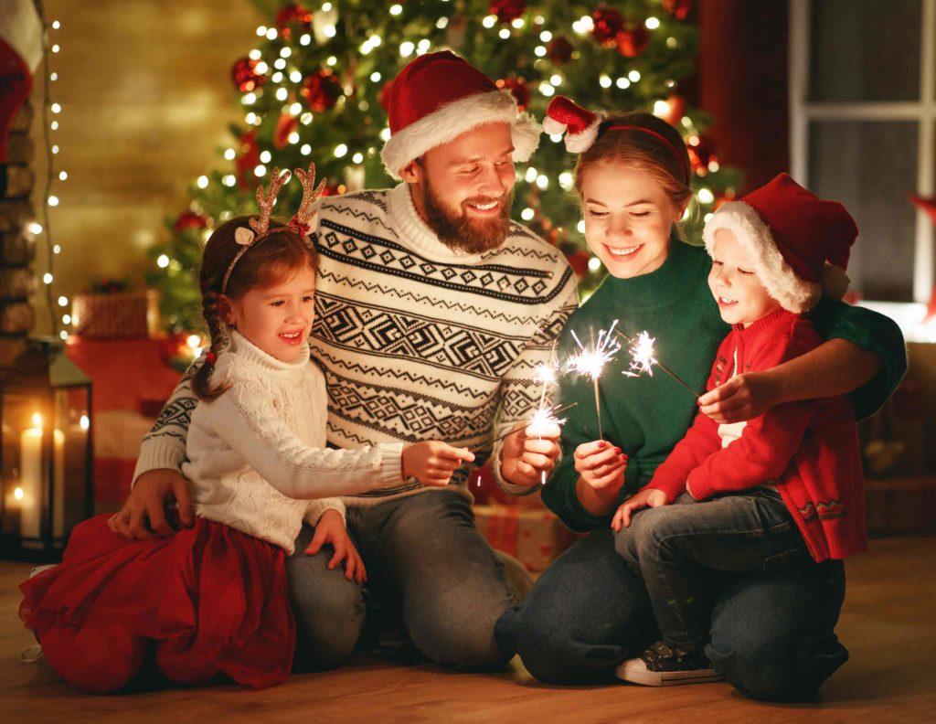 Weihnachtsbanner Familienbild